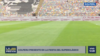 Universitario vs Alianza Lima: así luce la cancha del Monumental a horas del clásico (VIDEO)