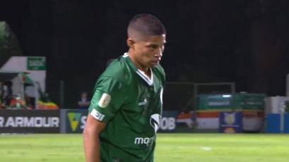 Kevin Quevedo debutó en el Brasileirao en la derrota de Goiás por 2-1 ante Corinthians