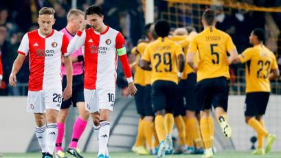 Feyenoord de Renato Tapia perdió 2-0 contra Young Boys de Suiza por la Europa League