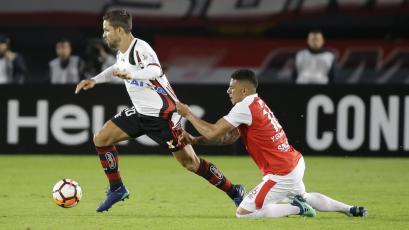 Flamengo, con Trauco en el banco, igualó en casa de Ind. Santa Fe