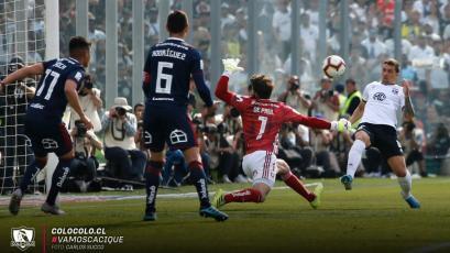 Gabriel Costa jugó y tuvo acción con Colo Colo en el clásico chileno