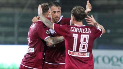 Germán Denis marcó su primer doblete con Reggina en la goleada 4-1 sobre Picerno (VIDEO)