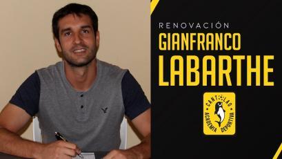 Gianfranco Labarthe renovó con Academia Cantolao