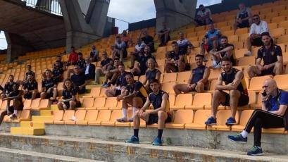 Serie A: Gianluca Lapadula se mostró feliz por volver a entrenar en grupo con Lecce