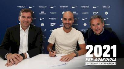 Premier League: Pep Guardiola renueva con el Manchester City hasta 2021