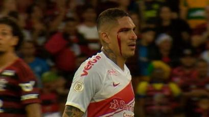 Paolo Guerrero terminó expulsado durante el duelo entre Flamengo e Inter (VIDEO)