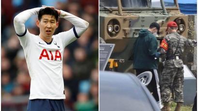 Heung-min Son, estrella del Tottenham, fue captado cumpliendo su formación militar (FOTOS)