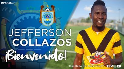 Deportivo Binacional presentó a Jefferson Collazos como nuevo refuerzo