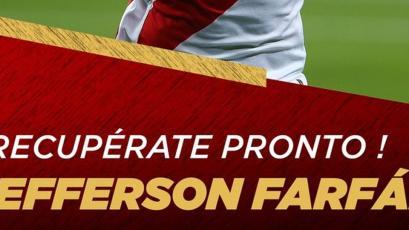 Selección Peruana: los mensajes de fuerza para la salud de Jefferson Farfán