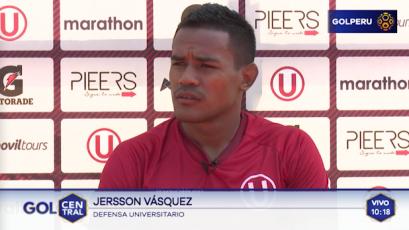 """Jersson Vásquez: """"El último partido se jugó mal, hay que reconocerlo"""""""