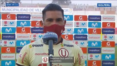 Jonathan Dos Santos tras el empate de Universitario:
