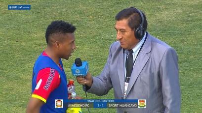 Jorge Bazán tras empate de Sport Huancayo: