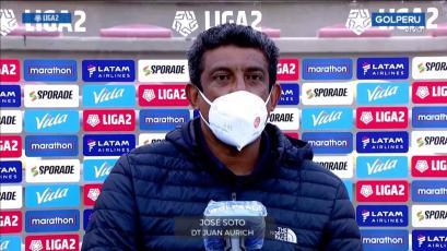 José Soto celebró el triunfo de Juan Aurich en la Liga2: