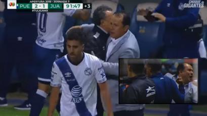 Puebla: Juan Reynoso y su emotiva celebración tras el gol en el último minuto (VIDEO)