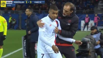 Kylian Mbappé desairó a Thomas Tuchel al ser cambiado en victoria del PSG (VIDEO)