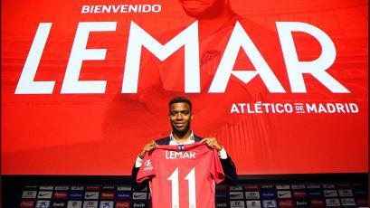 Atlético de Madrid presentó oficialmente al francés Thomas Lemar