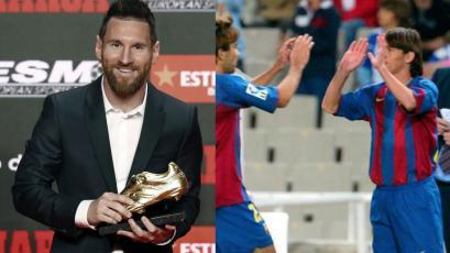 Lionel Messi recibió su sexta Bota de Oro el mismo día que se cumple 15 años de su debut profesional