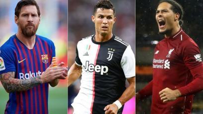 Balón de Oro: Lionel Messi, Cristiano Ronaldo y Virgil van Dijk encabezan la lista de 30 nominados