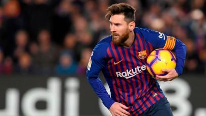 Lionel Messi rescata un empate frente al Valencia