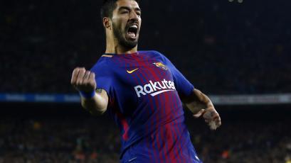 Luis Suarez anotó por octava jornada consecutiva