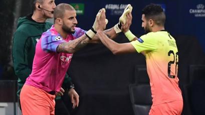 Champions League: Manchester City se quedó sin porteros y el lateral atajó 10 minutos