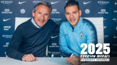 Manchester City renueva a Ederson hasta el 2025