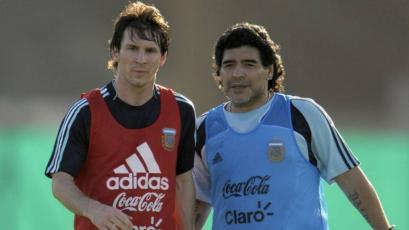 Maradona defiende a Messi: