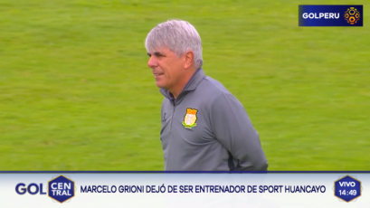 Marcelo Grioni dejó de ser el DT de Sport Huancayo