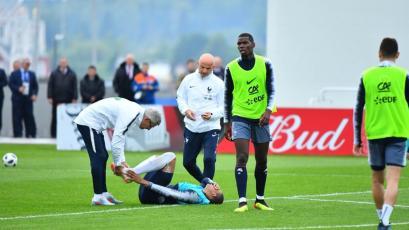 ALARMA EN FRANCIA: Kylian Mbappé se retiró del entrenamiento