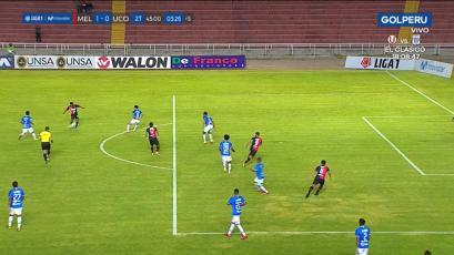 Melgar: el gol anulado a Bernardo Cuesta por una posición adelantada que no existió (VIDEO)