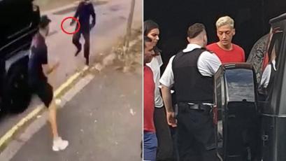 Mesut Özil estaba siendo asaltado, pero apareció un jugador del Arsenal y lo impidió (VIDEO)