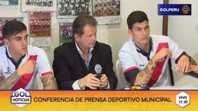 Deportivo Municipal presentó a Iván Bulos y José Miguel Andrade
