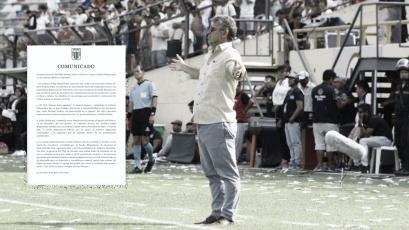 Alianza Lima oficializó la renuncia del entrenador Pablo Bengoechea con este comunicado