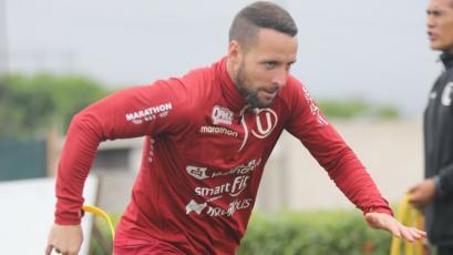 Universitario de Deportes: Pablo Lavandeira volvió a entrenar a la par de sus compañeros en Campo Mar