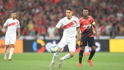 Internacional de Paolo Guerrero perdió 1-0 con Paranaense en la primera final de la Copa Brasil