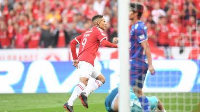 Paolo Guerrero volvió al gol con el Internacional en el Brasileirao
