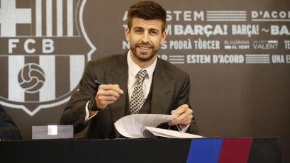 Gerard Piqué renovó con Barcelona hasta 2022