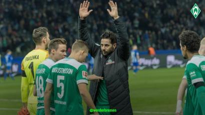 Claudio Pizarro jugó 30' con el Werder Bremen en el inicio de la fecha en la Bundesliga