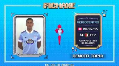 Celta de Vigo presentó la ficha de Renato Tapia en forma de videojuego