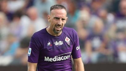 Fiorentina: Franck Ribéry volvió tras 7 meses de inactividad