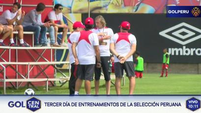 Selección Peruana cumple con su tercer día de entrenamiento