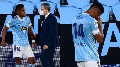 Celta de Vigo confirmó que Renato Tapia sufrió una lesión y estará tres semanas de baja