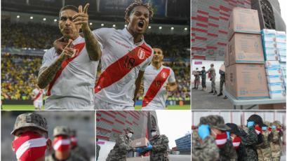 Coronavirus: Selección Peruana donó a las Fuerzas Armadas miles de artículos de protección (VIDEO)