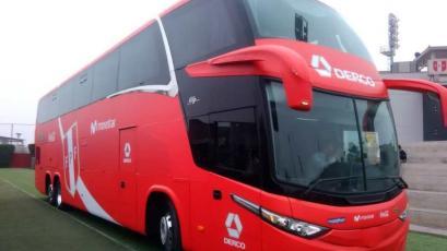 Selección Peruana llegó al Monumental en el bus que usará en las Eliminatorias Qatar 2022