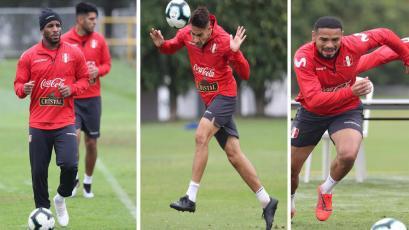 Selección Peruana: Paolo Guerrero se unió a los entrenamientos en cancha