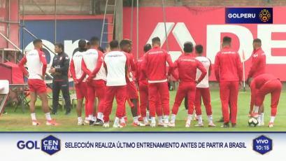 Selección Peruana: ¿Qué pasó en el último entrenamiento antes de viajar a Brasil?