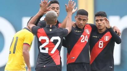 Selección Peruana Sub 23 venció 2-0 a Ecuador en amistoso disputado en la Videna