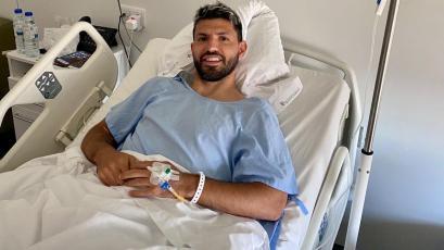 Sergio Agüero se operó de la rodilla y estará fuera de las canchas por 2 meses