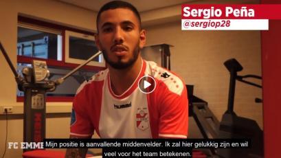 Sergio Peña y su curiosa presentación ante los hinchas del FC Emmen de Holanda (VIDEO)