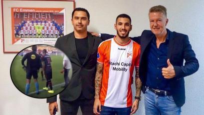 Sergio Peña debutó con camiseta del FC Emmen holandés y dejó grata impresión en los hinchas